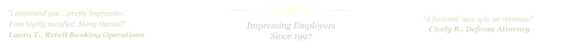 Pharr Resume Service... IMPRESSING EMPLOYERS SINCE 1997!